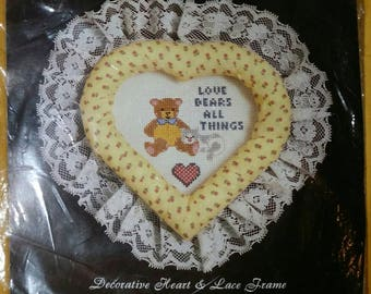 "Counted Cross Stitch Kit ""Love Bears All..."" #6002 by Deco Point Inc"