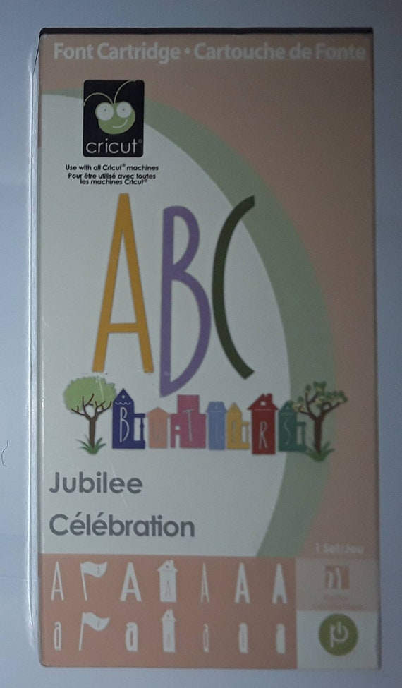 Provo Craft Font Cartridge - Jubilee - Creative features, flag, runt,  village, stilts, shadow, shadow blackout