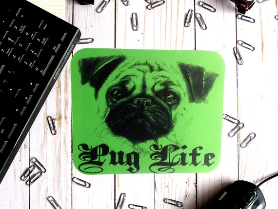 Pug On A Rug Mouse Mat Pad /& Coaster