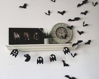 Ghost Garland, Ghost Banner, Halloween Garland, Halloween Garland,  Halloween Decor