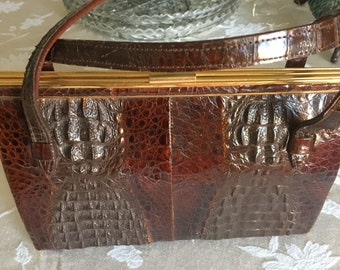 Genuine Alligator Evening Purse