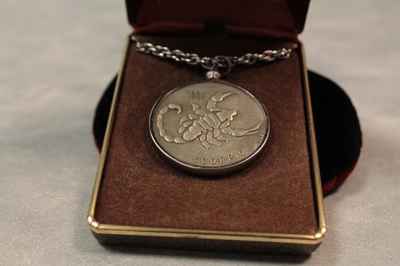 Minted Coin Scorpio Bronze Pendant