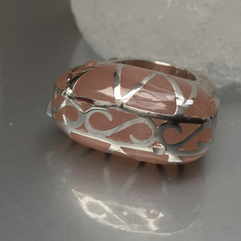 Women/'s designer ring in Silver 925 and resin