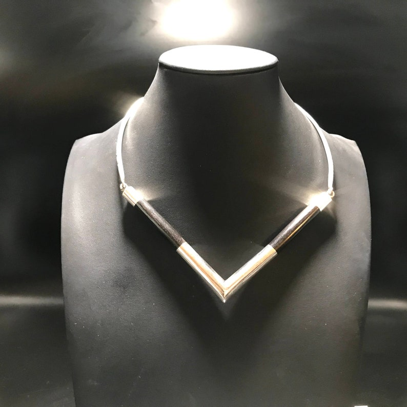 Handmade handmade Touareg silver and Ebony necklace