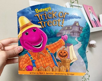 1997 Barney's Trick Or Treat Halloween Picture Book Vintage