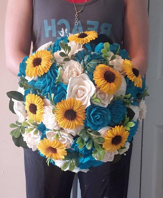 Turquoise Turquoise Sola Bouquet Turquoise Sola Flowers Orange Sola Bouquet /& Ivory Sola Bouquet Turquoise Sola Bouquet Orange