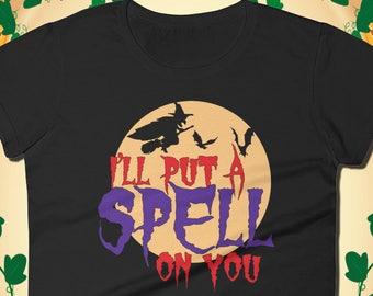 Halloween t-shirt, Womens halloween shirt, halloween shirt, tee shirt, t shirt, womens, women's shirt, halloween witch, Witch T-Shirt, Spell