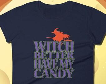 Halloween t-shirt, Womens halloween shirt, halloween shirt, tee shirt, t shirt, womens, women's shirt, halloween candy, Witch T-Shirt, Candy