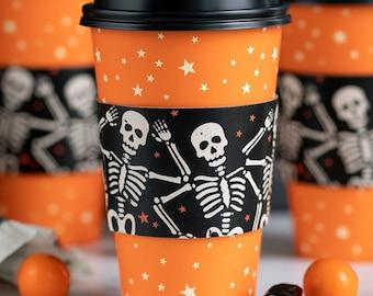 Skeleton Coffee Cups, Halloween Coffee Cups, Halloween Gift, Coffee To Go Cups, Halloween Party, Halloween Drinkware, Halloween Mug