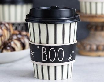 Boo Coffee Cups, Halloween Coffee Cups, Halloween Gift, To Go Coffee Cups, Halloween Party, Halloween Drinkware, Halloween Mug, Coffee To Go