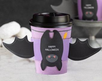 Bat Coffee Cups, Halloween Coffee Cups, Halloween Gift, Disposable Coffee Cups, To Go Coffee Cups, Halloween Drinkware, Halloween Mug