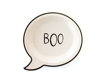BOO Plates, BOO Halloween Plates, Halloween Party Decor, Party Supplies, Spooky Party Decor, Halloween Decorations, Boo Party Plates