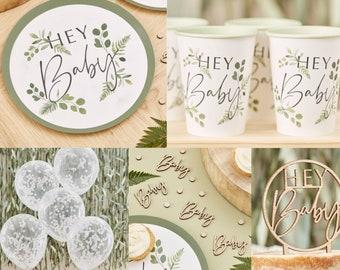 Botanical Baby Shower, Baby Shower Kit, Baby Shower Supplies, Hey Baby Supplies, Party Supplies, Baby Shower Decor, Greenery Baby Shower