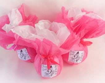 3 Fizzy Bath Bombs for 10 , Choose your favorite fragrance or essential oil blend. Dye free. Natural ingredients. Perfect for sensitive skin