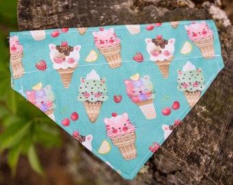 Pink Popsicles /& Ice Cream Cones Snap Closure Bandana Reversible Dog Bandana