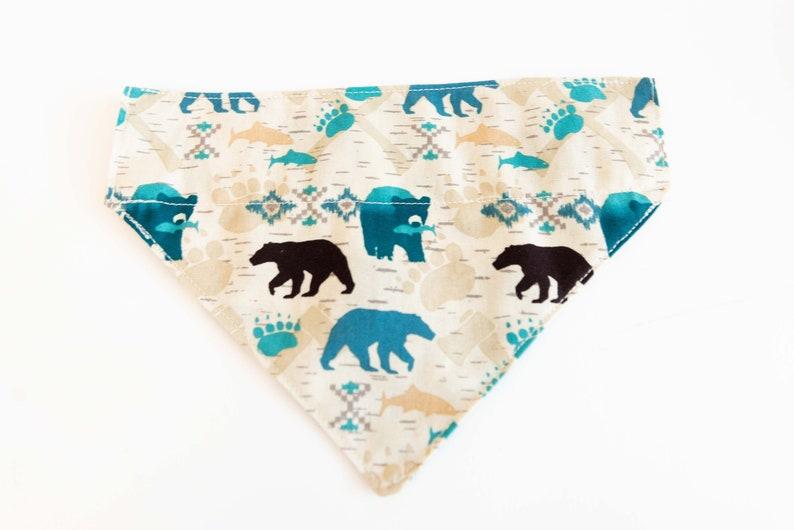 Bear Over The Collar Bandana Winter Dog Bandana Bear Forest Animal Print Dog Bandana Beer Print Bandana Animal Print Cat Bear Bandana