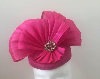 Pink Silk Fascinator