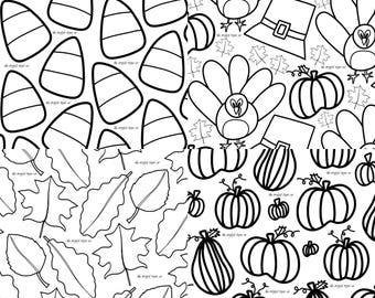 Coloring Set for Christmas / Kids Coloring Pages / Christmas | Etsy