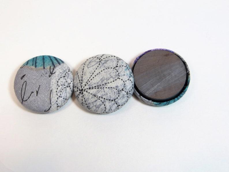 3 Romantic Gray Magnet Set Office Desk Accessories Strong Cubicle Decor Wedding Favors for Guests Cute Fridge Magnets