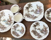 The Old Mill, Johnson Bros, 2 Place Setting, 12 pieces FREE SHIPPING