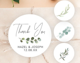 24X THANK YOU Kraft Seal Sticker Label for Wedding Favor//Envelope//Card TCAO