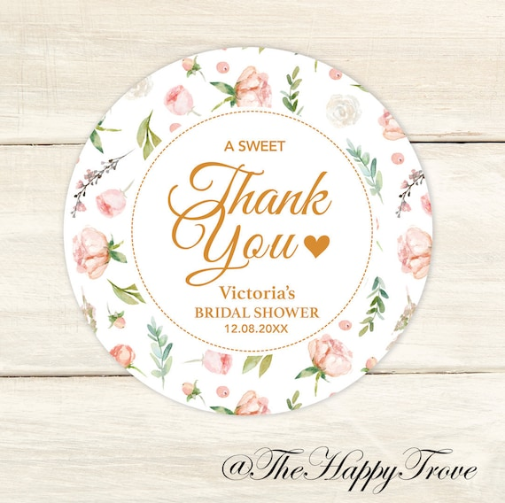 baby shower Blush Sweet Rose themed thank you stickers wedding favours cotton candy favours bridal shower