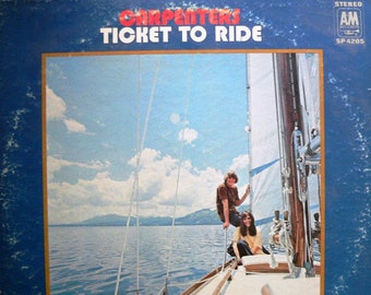Carpenters-Ticket to Ride 1970 A&M Records Vintage Vinyl Record