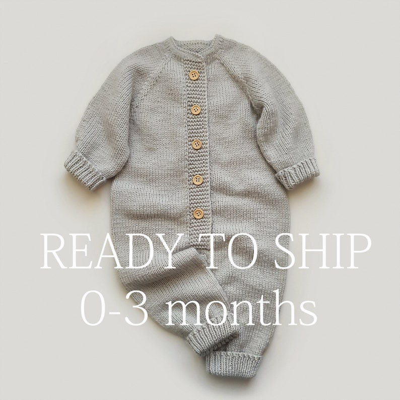 Knit baby romper Baby boy romper Newborn romper Knit   Etsy