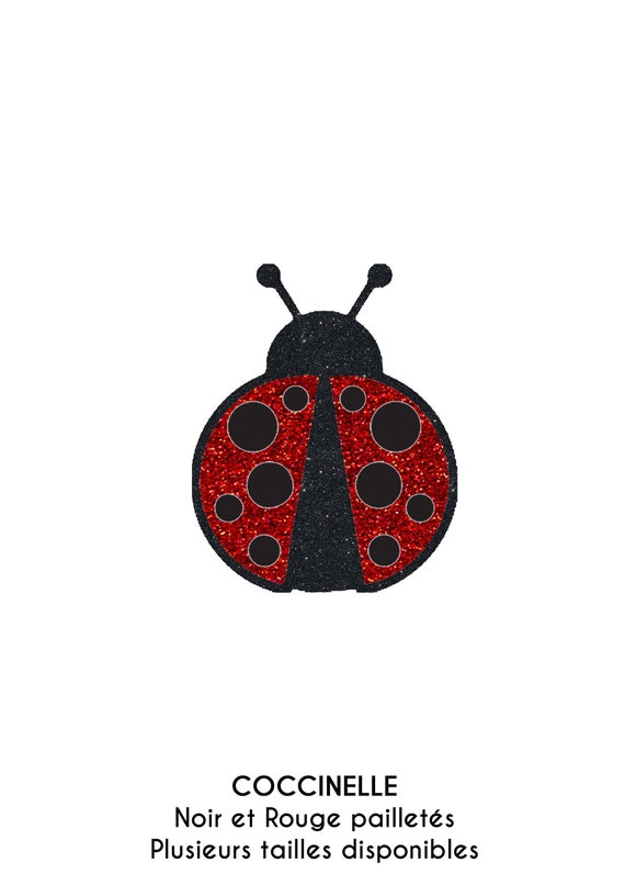 3 Ecussons patchs brodés coccinelles enfants iron on patches ladybugs 6 cm