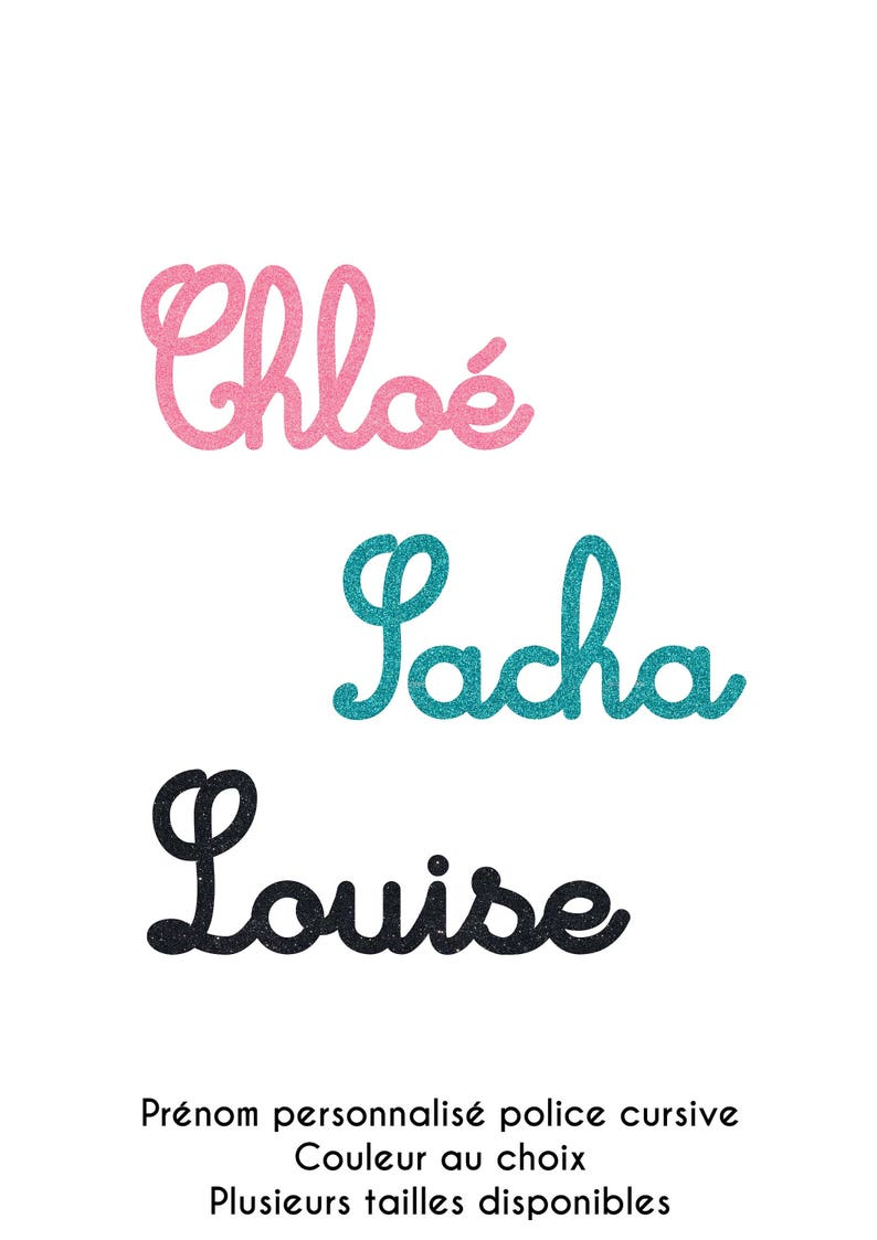 Personalized Name Font Cursive In Flex Fusible Size And Etsy