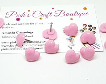 Novelty Push Pins. Pink Heart Pushpins. Pink Heart Thumb Tacks. Novelty Drawing Pins. Heart Push Pins. Notice Board Pins. Novelty Stationery