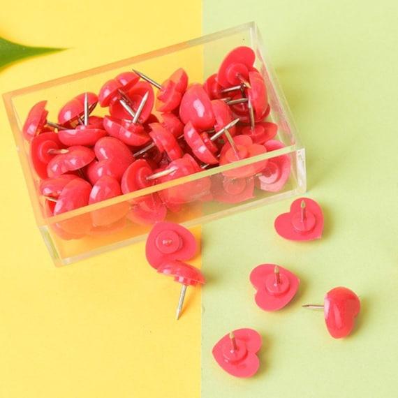 Gold Coffee Heart Push Pins Thumb Tack Decorative Teacher Planner Supply Novelty