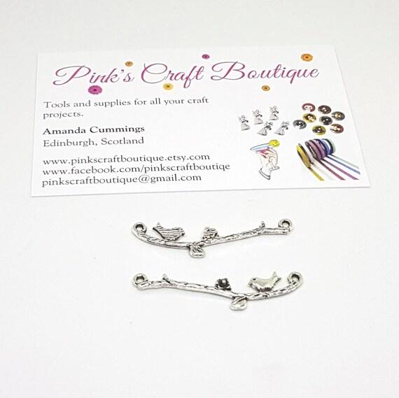 SC2851 2 Best Friend Charm Connectors Antique Silver Tone Ideal for Bracelets