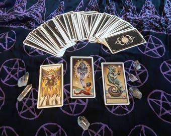 Three Card Past/Present/Future Deviant Moon Tarot Reading