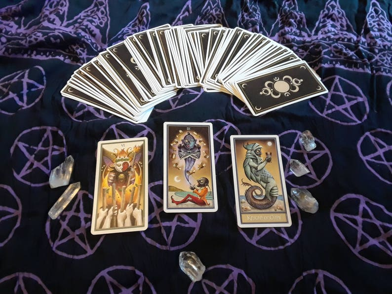 Three Card Past/Present/Future Deviant Moon Tarot Reading