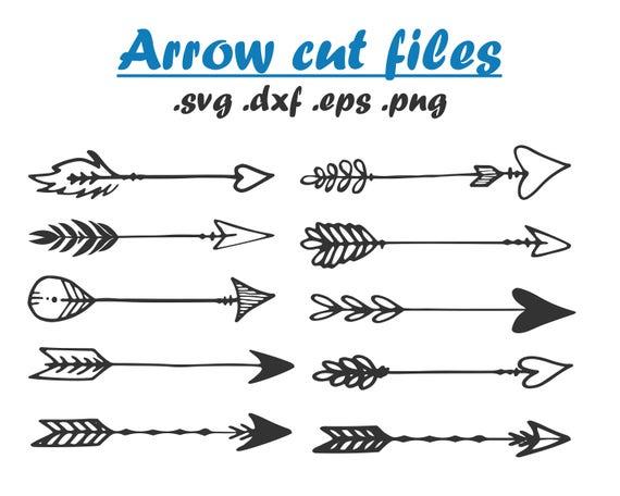 Tribal arrow cut files Arrow clip art SVG DXF PNG Vector ...
