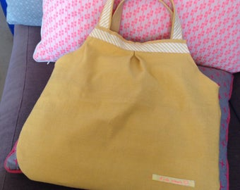 Yellow and pink purse