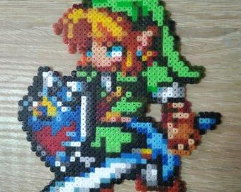 Link, Zelda in Hama Beads
