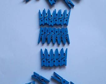 41 mini clothespins - for scrapbooking - mark up creation