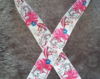 146 Ribbon - grosgrain - 22 mm sold by 50 CM - Mary Mary ribbon