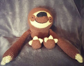 Crochet Stuffed Sloth