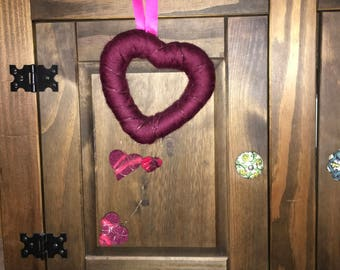 Heart Love Tprkranz red pink wire felt felted love is all we need,