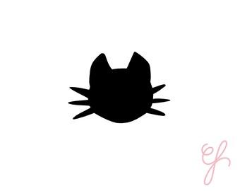 Cat Head Vinyl Sticker-handmade sticker-pretty planning-scrapbooking-bullet journaling