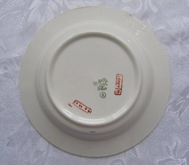 Budi porcelain retro dinner plate cottage decor dish old dishes soviet tableware Set of 3 vintage ceramic dishes rustic vintage plate