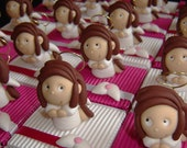 Angels kneeling angel themed favors boxes