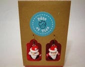 Father Christmas earrings...