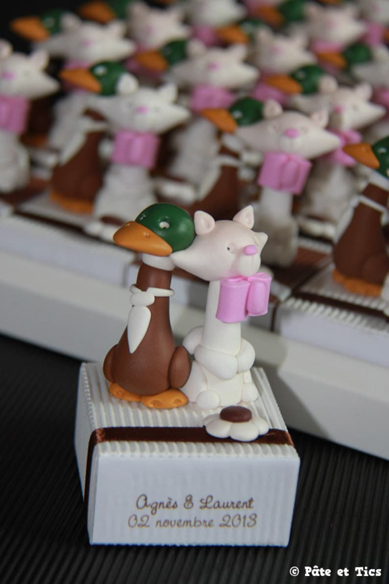 Cats and ducks theme married candy boxes