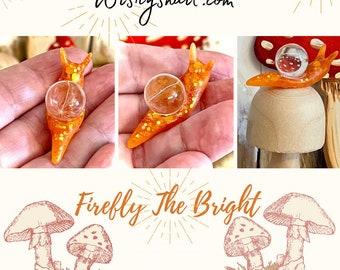 Handmade snail gift,Dandelion Wishes Snail,Wish gift,snail,nature