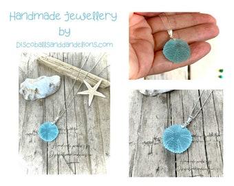 Sea Urchin Necklace,ocean inspired,beach jewellery,resin jewellery,boho jewellery