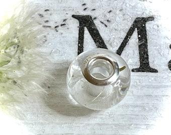 Silver Bead,handmade bead,resin jewellery,silver bracelet bead charm,dandelion wish bead,handmade jewellery